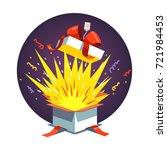 opened celebration gift box... | Shutterstock .eps vector #721984453