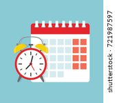 calendar and clock icon.... | Shutterstock .eps vector #721987597