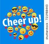 cheer up with emoji   Shutterstock .eps vector #721988443
