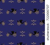 seamless vector pattern with... | Shutterstock .eps vector #722000737