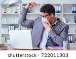 businessman sweating... | Shutterstock . vector #722011303