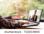 image of two young businessmen... | Shutterstock . vector #722014843