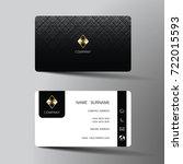 modern business card template...   Shutterstock .eps vector #722015593