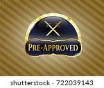 golden emblem or badge with... | Shutterstock .eps vector #722039143