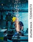 heavy industry manual worker... | Shutterstock . vector #722043373