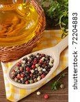 colorful peppercorns on a...   Shutterstock . vector #72204883