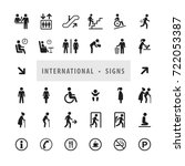 vector set of international... | Shutterstock .eps vector #722053387