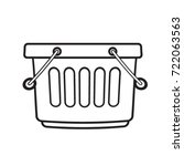 black outline basket with two... | Shutterstock .eps vector #722063563
