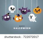 happy halloween   Shutterstock .eps vector #722072017