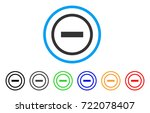 delete rounded icon. style is a ... | Shutterstock .eps vector #722078407