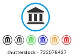 library building rounded icon.... | Shutterstock .eps vector #722078437