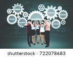 portrait of business people...   Shutterstock . vector #722078683