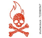 grunge death fire rubber seal... | Shutterstock .eps vector #722080567