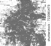vector halftone black and white....   Shutterstock .eps vector #722081473