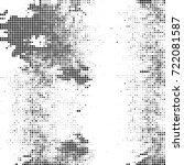 vector halftone black and white....   Shutterstock .eps vector #722081587