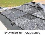 asphalt shingles roof... | Shutterstock . vector #722086897