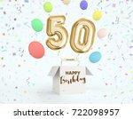 happy birthday 50 years... | Shutterstock . vector #722098957