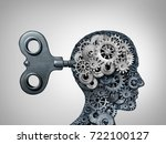 brain function symbol and... | Shutterstock . vector #722100127