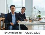 vietnamese business people... | Shutterstock . vector #722101327