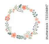 beautiful round frame with... | Shutterstock .eps vector #722106847