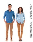 full body picture of relaxed... | Shutterstock . vector #722107507