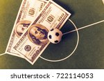 ball and dollars on the... | Shutterstock . vector #722114053