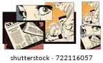 stock illustration. people in...   Shutterstock .eps vector #722116057