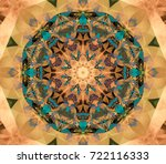 abstract multicolored fractal...   Shutterstock . vector #722116333