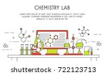 chemical laboratory  | Shutterstock .eps vector #722123713