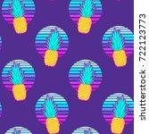 pineapple seamless pattern on...   Shutterstock .eps vector #722123773