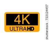 logo 4k ultra hd. vector...   Shutterstock .eps vector #722124457