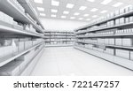 interior of a supermarket with... | Shutterstock . vector #722147257