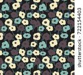 vector flowers pattern ... | Shutterstock .eps vector #722154403