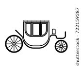 carriage black icon . | Shutterstock .eps vector #722159287