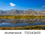 mountain reflect on the lake ... | Shutterstock . vector #722162653