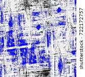 grunge blue seamless pattern.... | Shutterstock . vector #722172757