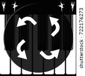 bent arrows icon.