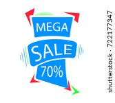 mega sale icons. vector...