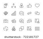set of social networks related... | Shutterstock .eps vector #722181727