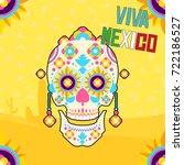 mexican ornamental skull | Shutterstock .eps vector #722186527
