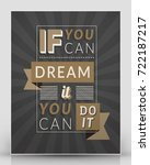 vintage inspirational and... | Shutterstock .eps vector #722187217
