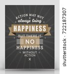 vintage inspirational and... | Shutterstock .eps vector #722187307