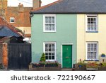 colourful terraced houses in... | Shutterstock . vector #722190667