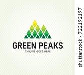 green peaks logo design... | Shutterstock .eps vector #722192197
