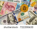 golden bitcoin with dollar... | Shutterstock . vector #722200633