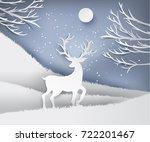 paper art landscape of... | Shutterstock .eps vector #722201467