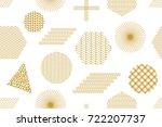 modern print with... | Shutterstock .eps vector #722207737