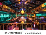 discotheque interior by night | Shutterstock . vector #722211223