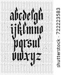 vector alphabet. custom letters.... | Shutterstock .eps vector #722223583