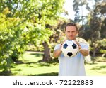 handsome man with a ball | Shutterstock . vector #72222883